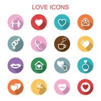 älskar långa skugga ikoner