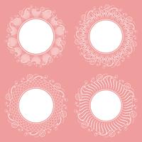 Collection of isolated white napkins. Stylish design. vector