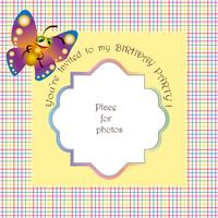 Baby invitation for a birthday