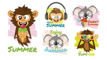 Cute Tropical animal collection