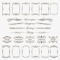 A large collection of frames and divider for processing your ideas, greeting, greeting card.