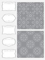 Set frameworks and seamless pattern.
