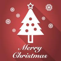 vrolijk kerstfeest lange schaduw