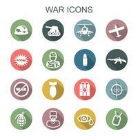 oorlog lange schaduw pictogrammen