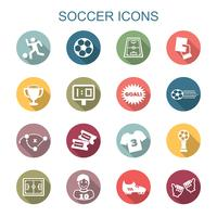 soccer long shadow icons vector