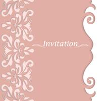 Invitation cards with vintage ornament. Beautiful, luxurious postcards.