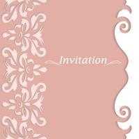 Cartões de convite com ornamentos vintage. Postais lindos e luxuosos.