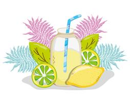Delicious summer juice cartoon