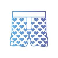 line nice boxer textile fashion design vector