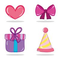 Set van verjaardag iconen