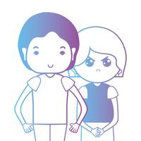 line couple togeter with hairstyle design