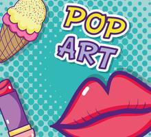 Pop-Art-Cartoon zu küssen