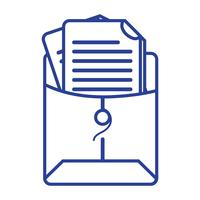 regel bestandsmap met zakelijke documentinformatie