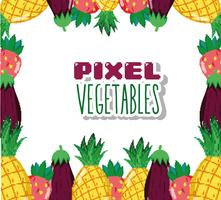 Pixel vegetables cartoons