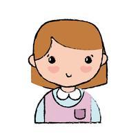 fille occasionnelle avec uniforme de coiffure et chemisier