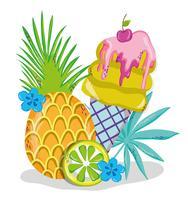Leckere Sommer-Eis-Cartoons