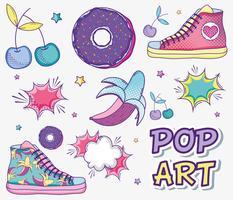 Dibujos animados divertidos del arte pop