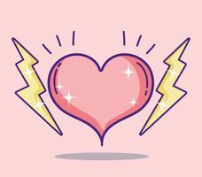 Coração e raios