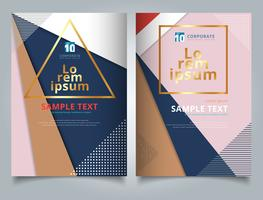 Abstract geometric triangles with circles and lines pattern multicolor for tempalte Brochure