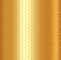 Abstract golden hexagon pattern on gold metalic background. vector