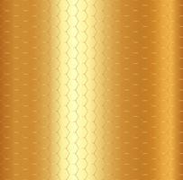 Modello dorato astratto di esagono su fondo metallico dell'oro.