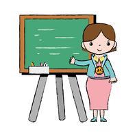 lezione di insegnamento degli insegnanti nel backcoard