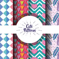 cute patern abstract geometric background design