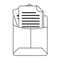 dotted shape file folder with business document information