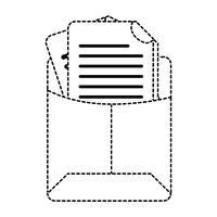 pasta de arquivos de forma pontilhada com informações do documento comercial