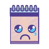 kawaii cute crying notebook tool