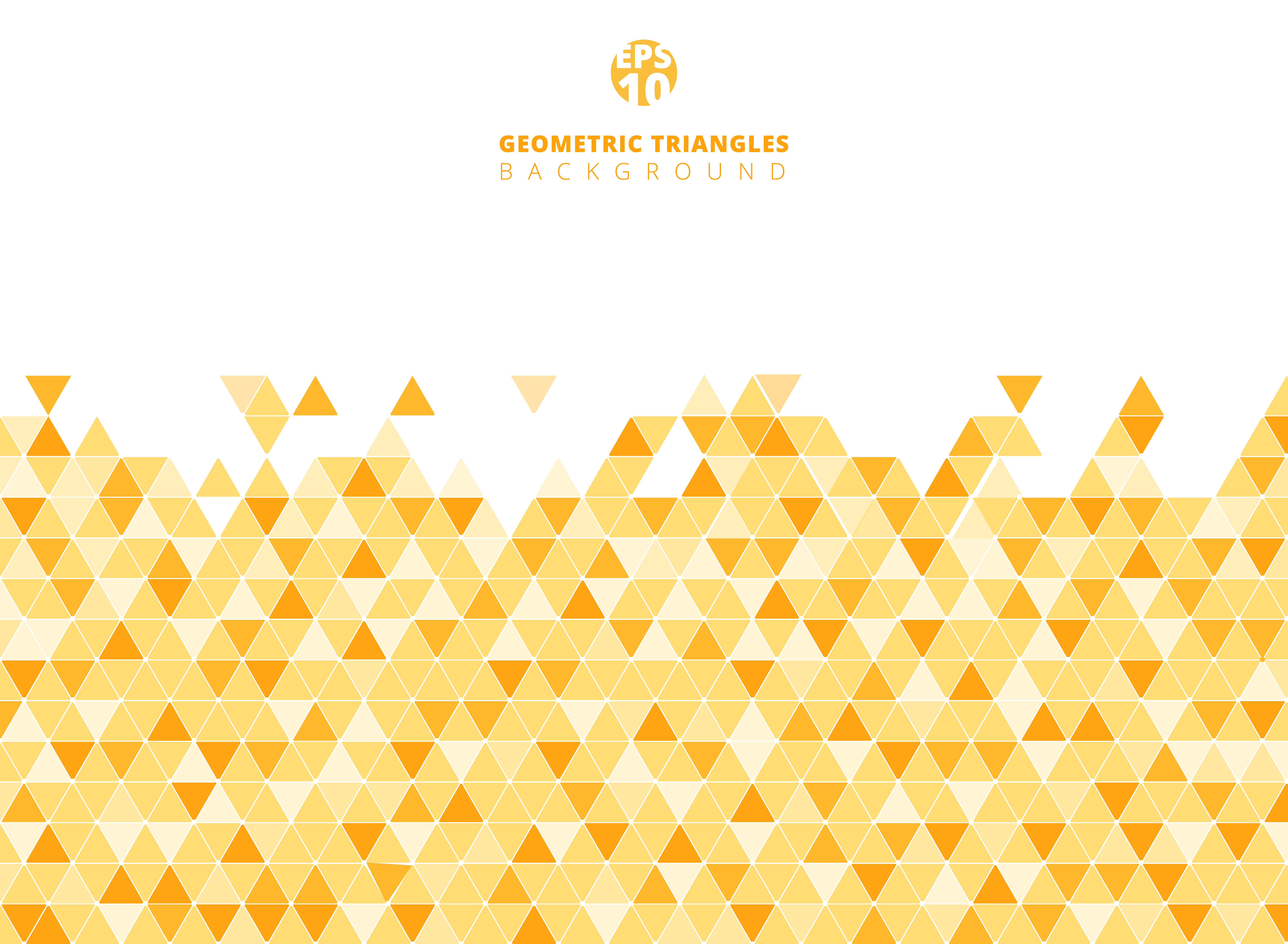 Fondo e struttura geometrici gialli astratti della struttura