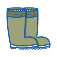 rubberen laarzen hebben bescherming tegen voeten