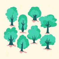 Simple Flat Trees  vector