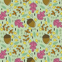 Beautiful pattern with colorful elements of autmn