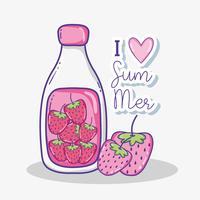 I love summer cartoons vector