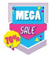 Mega vendita poster stile memphis