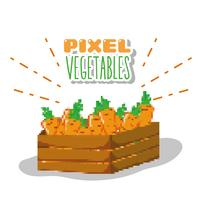 Dibujos animados de verduras pixel