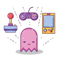 Concept de dessins animés de jeux vidéo rétro