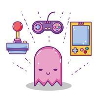 Concepto de dibujos animados de videojuegos retro.