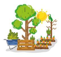 Jordbruksskörd pixelerade tecknade filmer