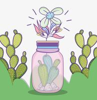 Tuin mason jar cartoon
