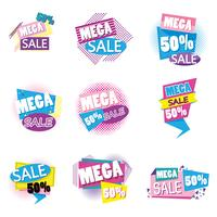 Set of big sale shopping poster vector