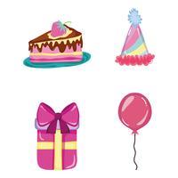 Reihe von Geburtstag Icons