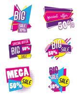Conjunto de gran cartel de compra venta