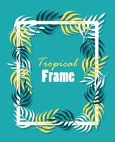 Tropical square frame vector