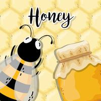 Organic honey label