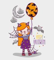 Cartoni animati di carta felice halloween