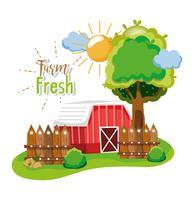 Concetto di fattoria fresca