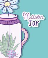Tuin mason jar cartoon