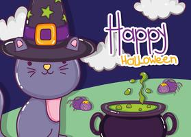 Dessins animés chat Halloween